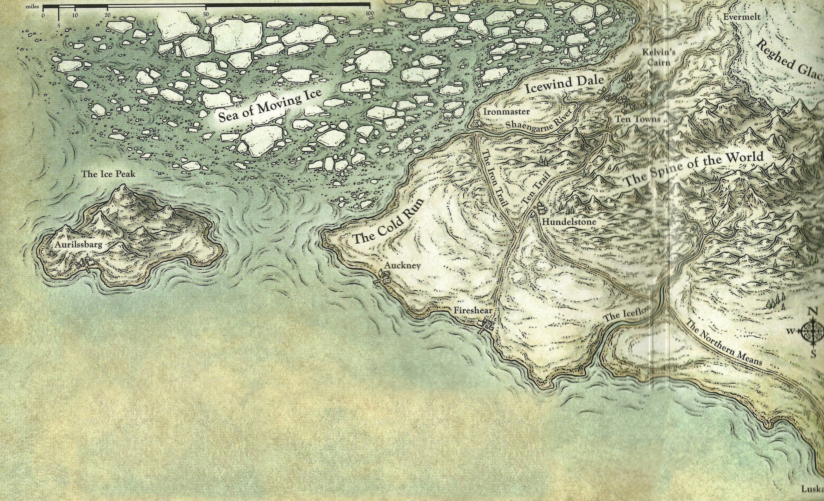 Icewind Dale Map From Pinterest 9