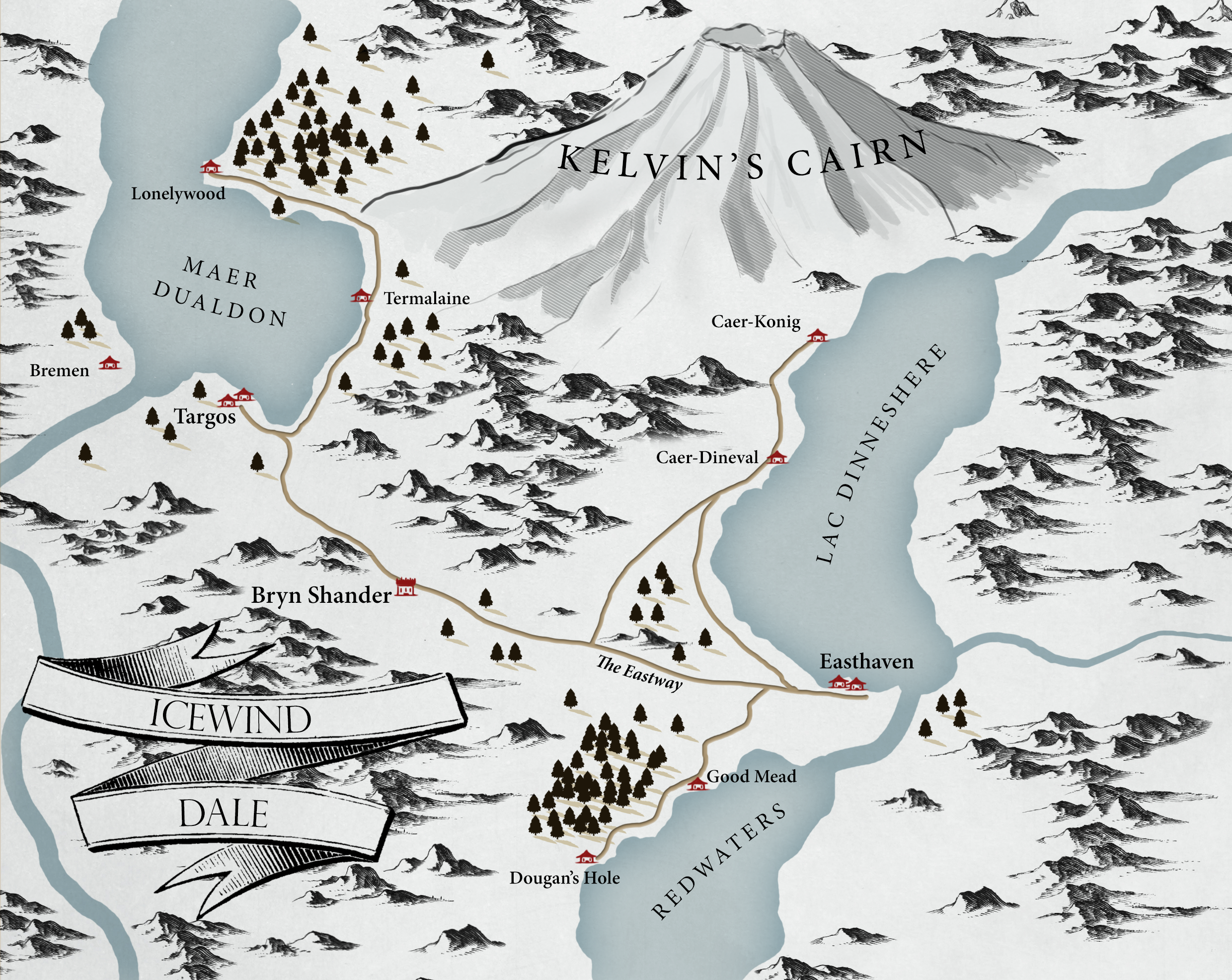 Icewind Dale Map From Reddit 1