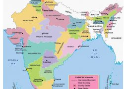 India States And Capitals Map: India states and capitals map from in 1