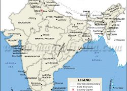 India states and capitals map from in 3