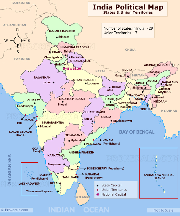 India States And Capitals Map