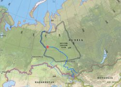 Irtysh river map from esri 10