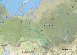 Irtysh river map from esri 8