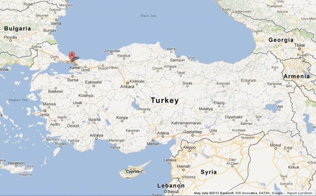 Istanbul On Map