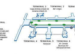 Lax terminal map from united 9