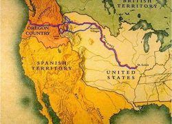 Lewis and clark map from ushistory 10