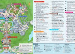 Magic kingdom map from mickeycentral 6