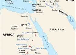 Map of ancient egypt and nubia from britannica 3