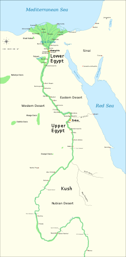 Map Of Ancient Egypt And Nubia