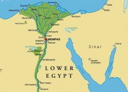 Map of ancient egypt and nubia from historicaleve 10