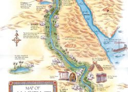 Map of ancient egypt and nubia from pinterest 4