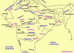 Map of ancient india from in 4