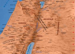 Map of ancient israel from bible history 2