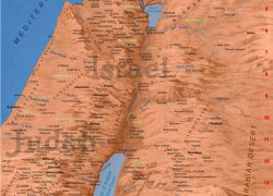 Map of ancient israel from bible history 4