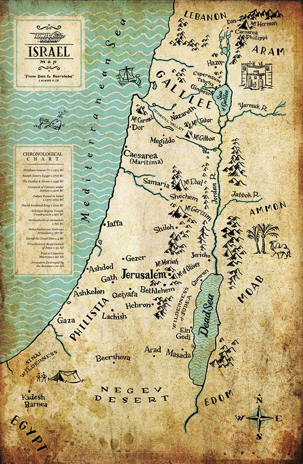 Map Of Ancient Israel