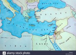 Map of eastern mediterranean from alamy 6