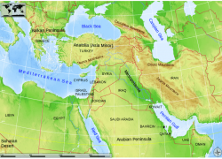 Map of eastern mediterranean from researchgate 2