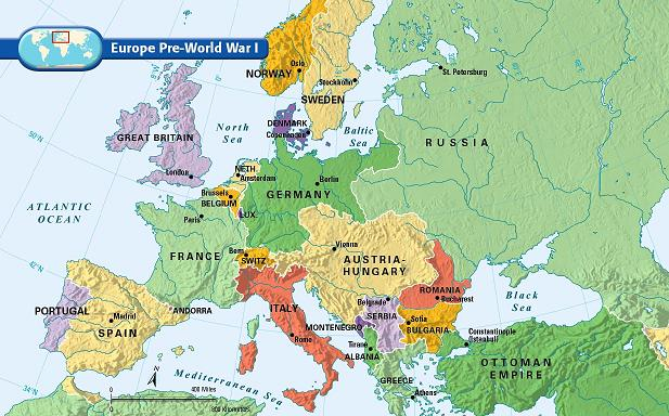 Map Of Europe After Ww1