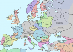 Map of europe in the middle ages from en 7