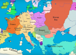 Map of europe in the middle ages from medievalists 3