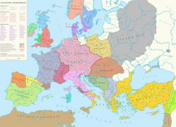 Map of europe in the middle ages from pinterest 4