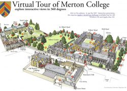 Map of oxford university from chem 4