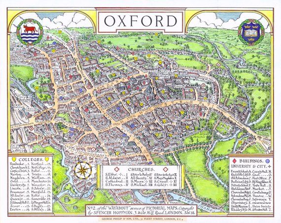 Map Of Oxford University
