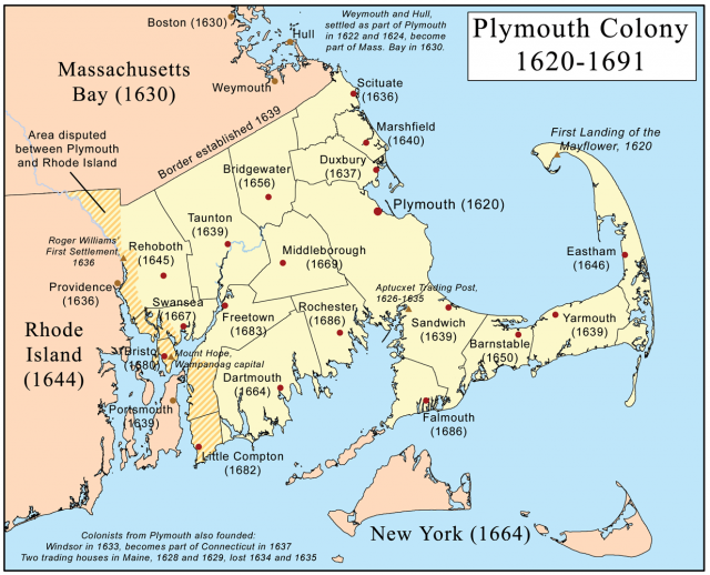 Map of plymouth colony from pinterest 1