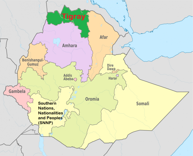 Map of tigray region from ywcapdx 2