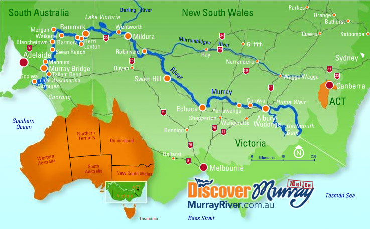 Murray River Map From Murrayriver 1