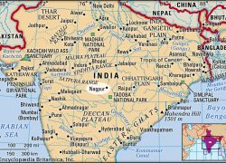 Nagpur In India Map: Nagpur in india map from britannica 1