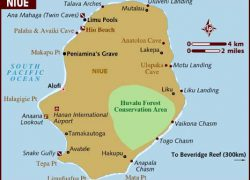 Niue map from lonelyplanet 3
