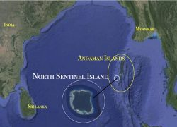 North sentinel island map from in 5