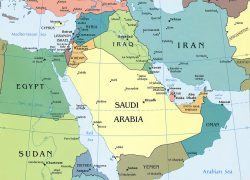 Persian gulf map from geographicguide 5