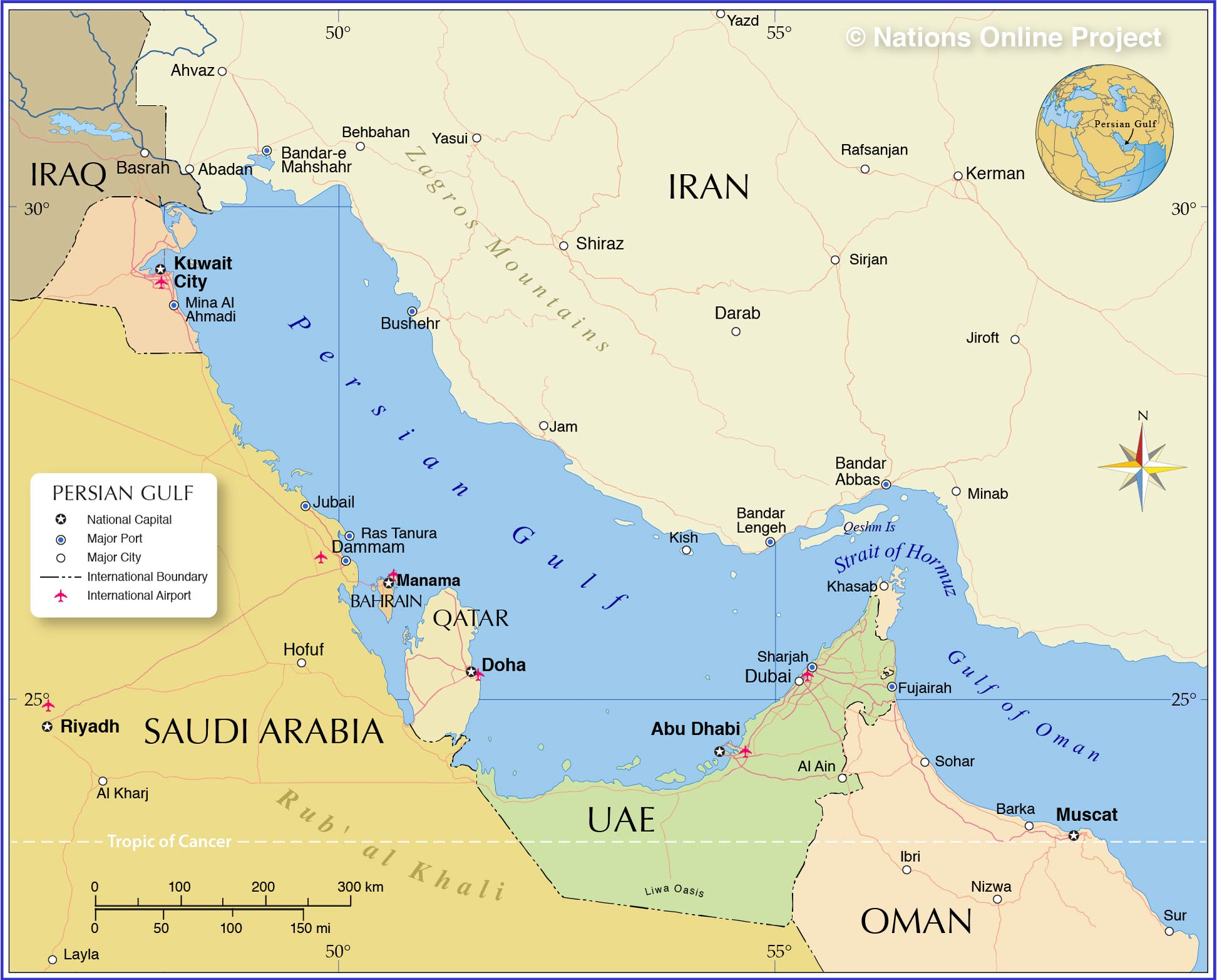 Persian Gulf Map From Nationsonline 1