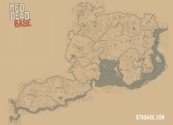 Red Dead Redemption 2 Map: Red dead redemption 2 map from gtabase 1