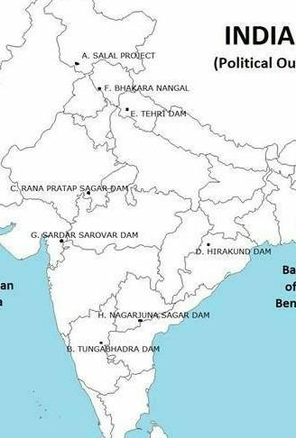 Salal Dam On Political Map Of India From Brainly 1