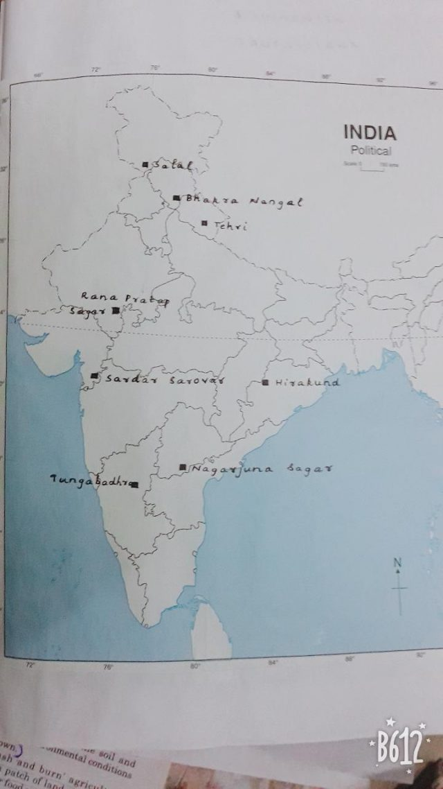 Salal Dam On Political Map Of India