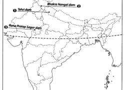 Salal dam on political map of india from learncbse 10