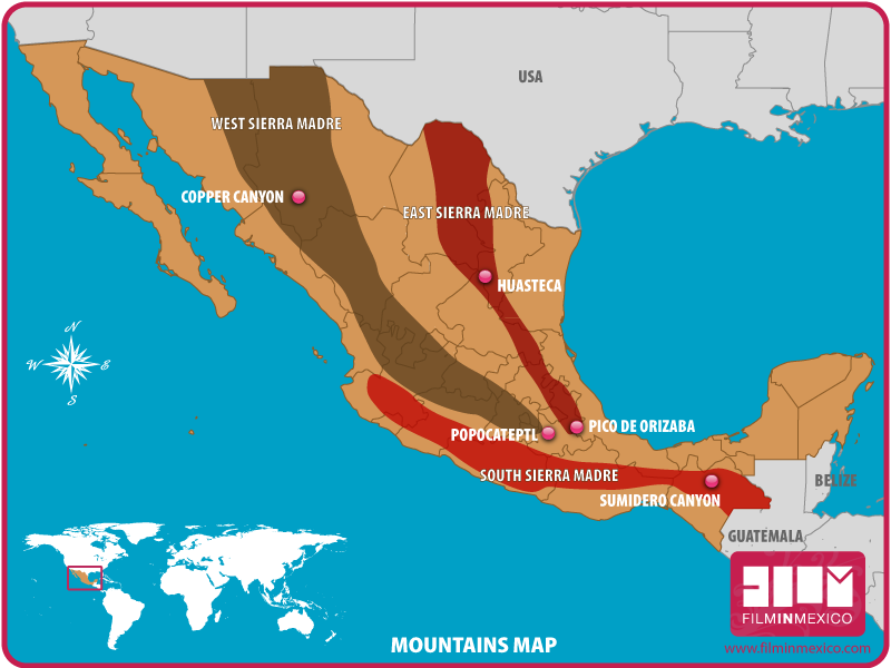 Sierra Madre Mountains Map From Filminmexico 3