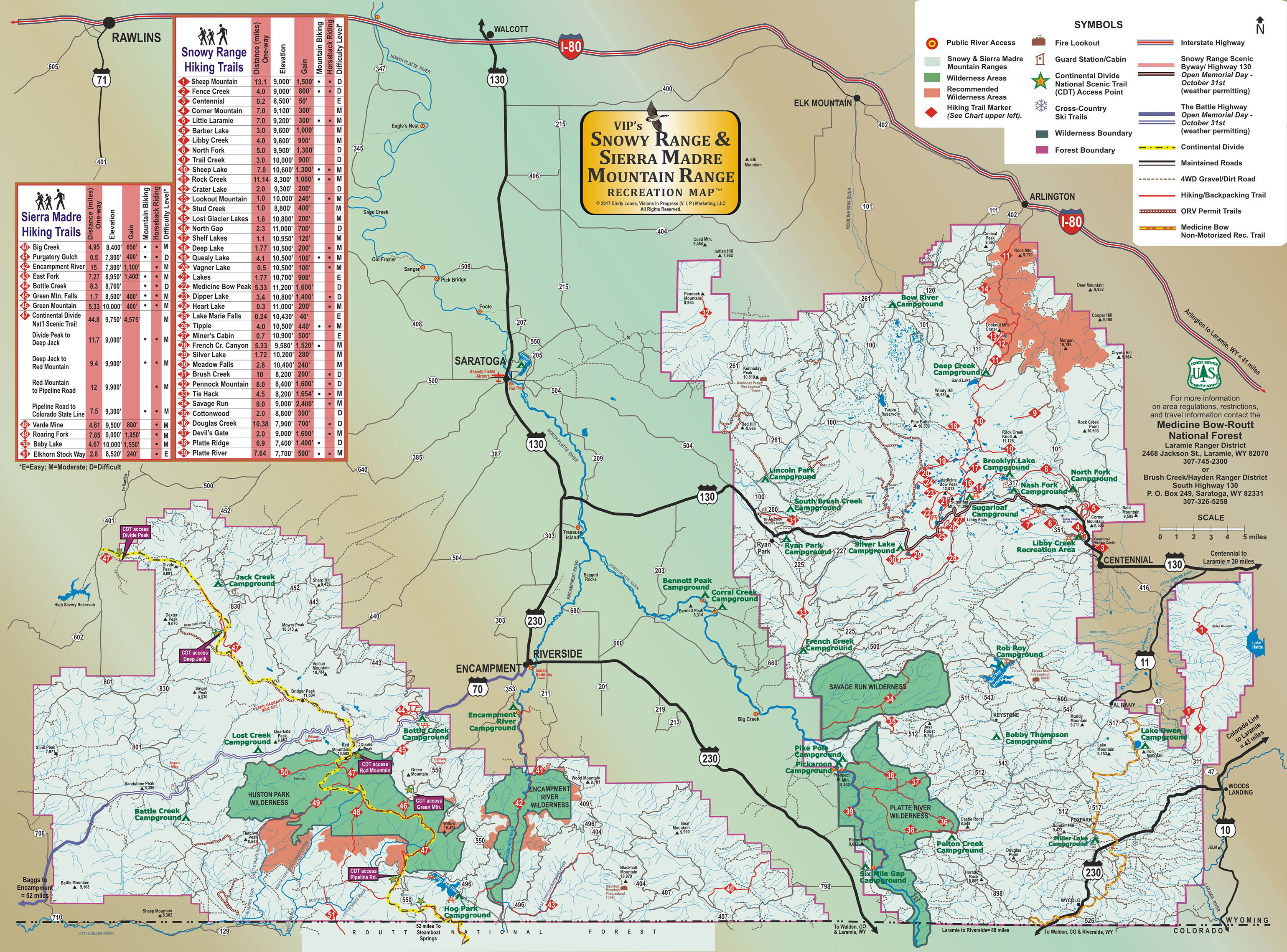 Sierra Madre Mountains Map From Goin2wyo 7