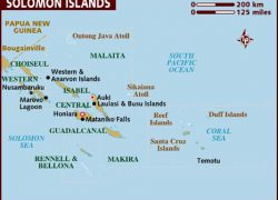 Solomon islands map from lonelyplanet 7
