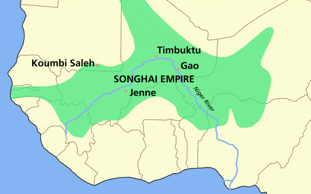 Songhai empire map from commons 1