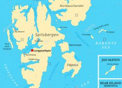 Svalbard map from alamy 4
