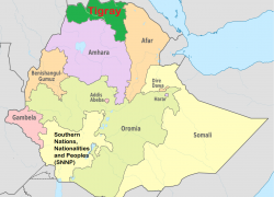 Tigray Map: Tigray map from ywcapdx 2