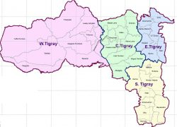 Tigray Region Map: Tigray region map from ethiodemographyandhealth 2
