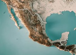 Topographic map of mexico from fineartamerica 10