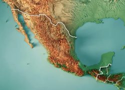 Topographic map of mexico from fineartamerica 3