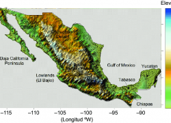 Topographic Map Of Mexico: Topographic map of mexico from researchgate 1