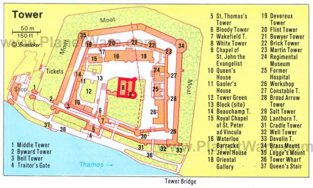 Tower Of London Map